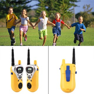 ☎2Pcs kids baubles Outdoor Games Walkie Talkie Mini Interphone