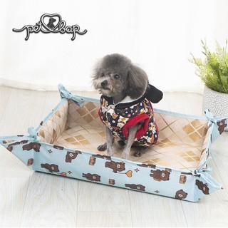 Thảm cho thú cưng kèm chiếu điều hòa có thể lắp thành ổ nằm tiện dụng Đệm hè cho chó mèo nhiều màu sắc thumbnail