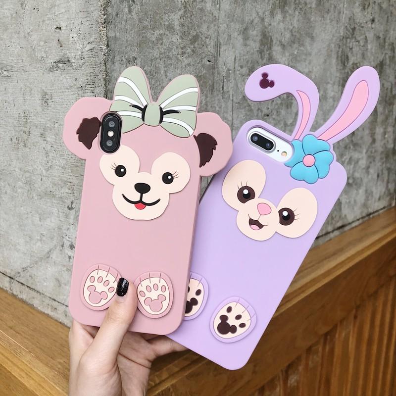 💕 LC iPhone 6/6S/6P/7/8/7P/8P/iPhoneX Phone Casing Duffy Bear Series TPU+Silicone Case