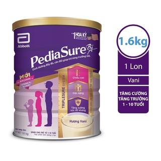 SỮA BỘT PEDIASURE HƯƠNG VANI LON 1.6kg