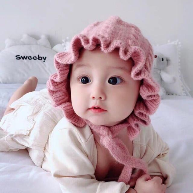 (Sỉ tốt nhất ) Mũ len tai bèo cho bé