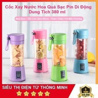Máy Xay Sinh Tố Cầm Tay Mini Bảo Hành 6 Tháng Cốc Thủy Tinh - Dao 4 Lưỡi - Sạc Pin - Siêu Bền thumbnail