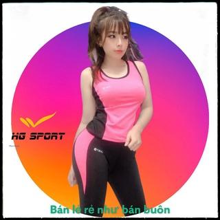Bộ Tập Gym, Yoga, Đồ Tập Thể Thao Nữ quần lửng áo sát nách kiểu cách cá tính, vải nhập khẩu cực đẹp từ 45 – 65 kg