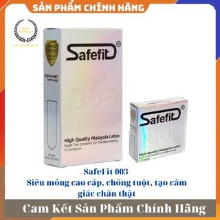 [ GIÁ SỈ ] Bao cao su siêu mỏng cao cấp, chống tuột, tạo cảm giác chân thật Safefit 003 - Hộp 3 hoặc 1 thumbnail