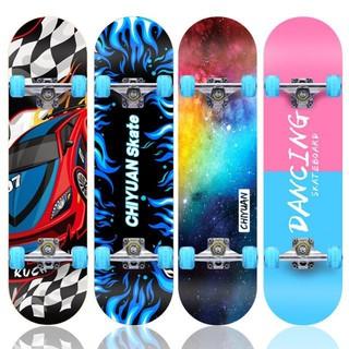 Ván Trượt Skateboard Bánh LED 7 Màu , Phát Sáng Khi Trượt , Mặt Nhám Chống Trơn Trượt, Chơi Skill , Mới Tập