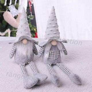 Handmade Christmas Elf Decoration Long Legged Swedish Gnome Tomte Plush Toy Doll