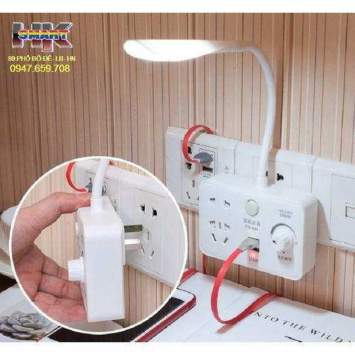 Ổ điện usb đa năng kèm đèn ngủ có triết áp