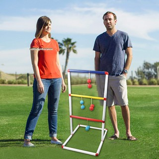 Kids Children Indoor Outdoor Ladder Toss Game Toys Kit with 12 Pcs Golf Ball Toys