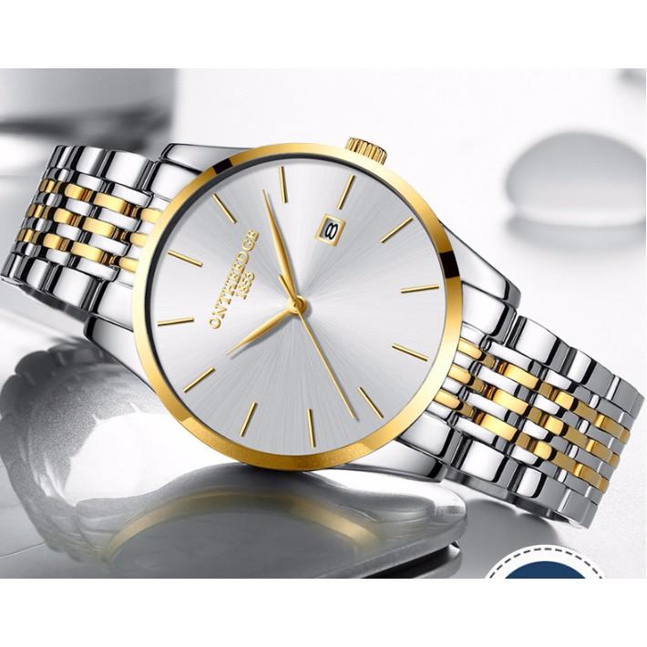 Đồng hồ nam máy mỏng dây đúc đặc Ontheedge RZY023