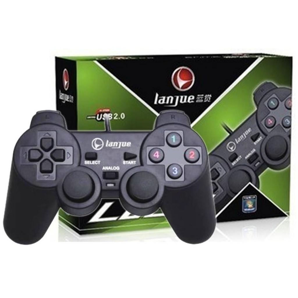 Tay cầm chơi game PC / Laptop / Android Tivi Box Lanjue L600 (Đen)