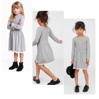 Váy len HM dư xịn size 18/24m-9/10y (4 màu)
