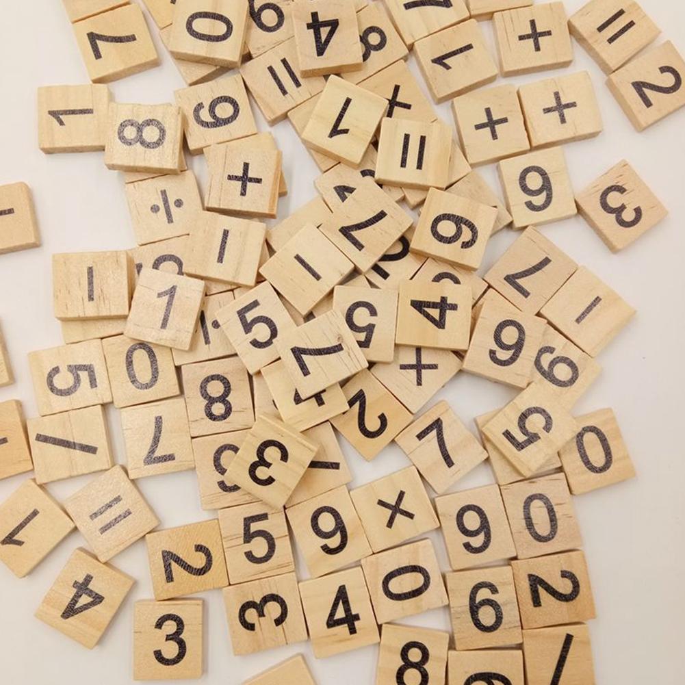 Building Block Toy 100 Pcs/set Digital Wood Set Children Wooden Toys Creative Kids Early Education 1