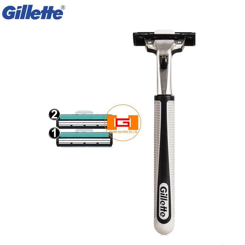 Combo Dao cạo râu Gillete Vector và 2 lưỡi thay thế