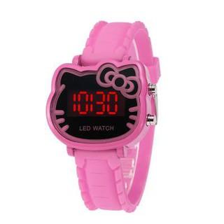 (Giá sỉ)Đồng hồ thời trang trẻ em điện tử led Hello Kitty