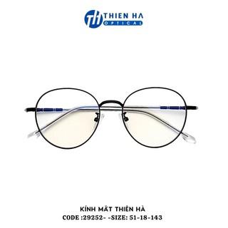 Gọng kính tròn Thiên Hà Optical chất liệu kim loại,dáng tròn phong cách Hàn Quốc siêu nhẹ,full màu dễ đeo TH29252 thumbnail