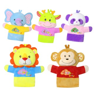 Cute Animal Finger Puppets Plush Hand Puppet Dolls Cartoon Gloves for Kids