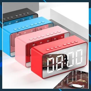 Loa Bluetooth thu FM Đọc thẻ nhớ micro SD TF - kết nối ngõ AUX jắc 3.5mm máy tính có dây - đồng hồ bức Led .