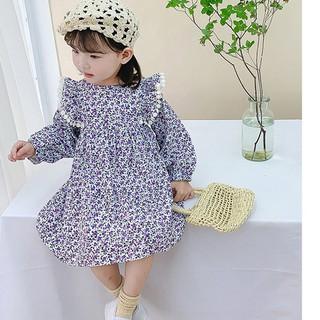 Váy Thu Đông Cho Bé - Váy Baby Boll Phối Ren Hoa Nhí