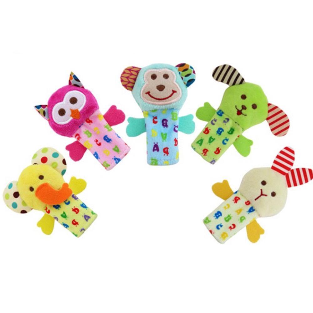 Cartoon Animal Baby Plush Toy Finger Hand Puppets Children Play Dolls Education