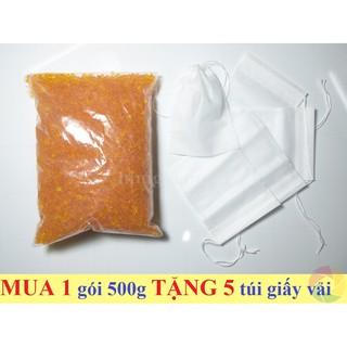 Gói 500g Hạt chống ẩm, hạt hút ẩm MÀU CAM chuyên dụng cho máy ảnh thumbnail