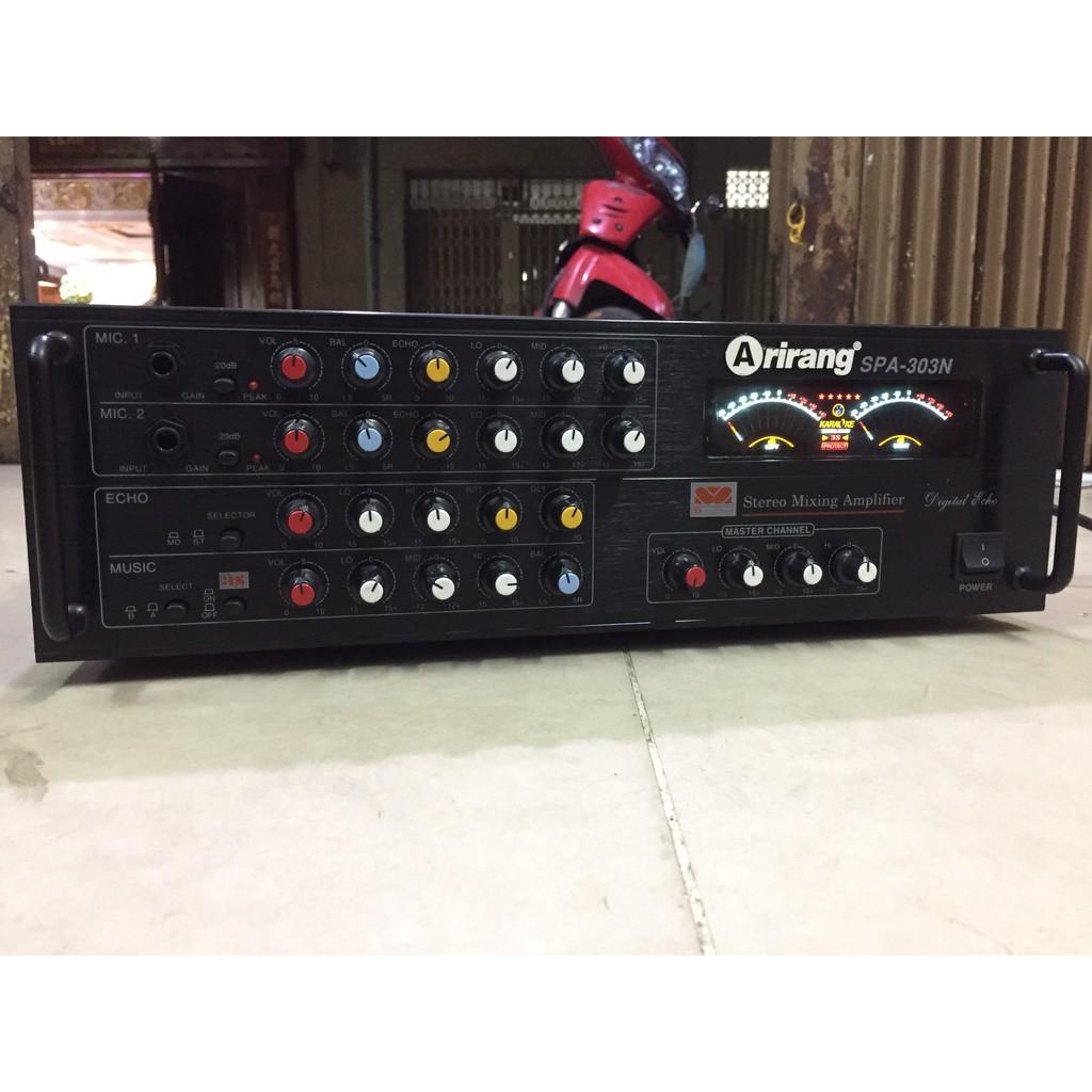 Amply Arirang-303 công suất lớn 8 sò chỉnh nhạc, hát karaoke