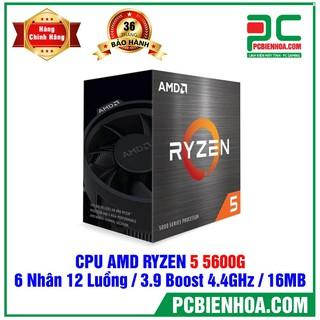 CPU AMD RYZEN 5 5600G ( 6 CORES 12 THREAD 3.9GHZ BOOST 4.4GHZ 16MB CACHE PCIE 3.0 TDP 65W) thumbnail