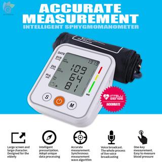 ET Blood Pressure Monitor Upper Arm Digital LCD Screen Electronic Sphygmomanometer Home Automatic Intelligent Arm-Cuff Sphygmomanometer Blood Pressure Meter