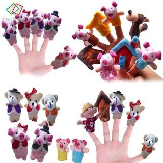 FCD 5/8pcs Telling Sack Bag Finger Puppets Nursery Rhyme Fairy Tale Aussie Animals Toys Children Gift Present