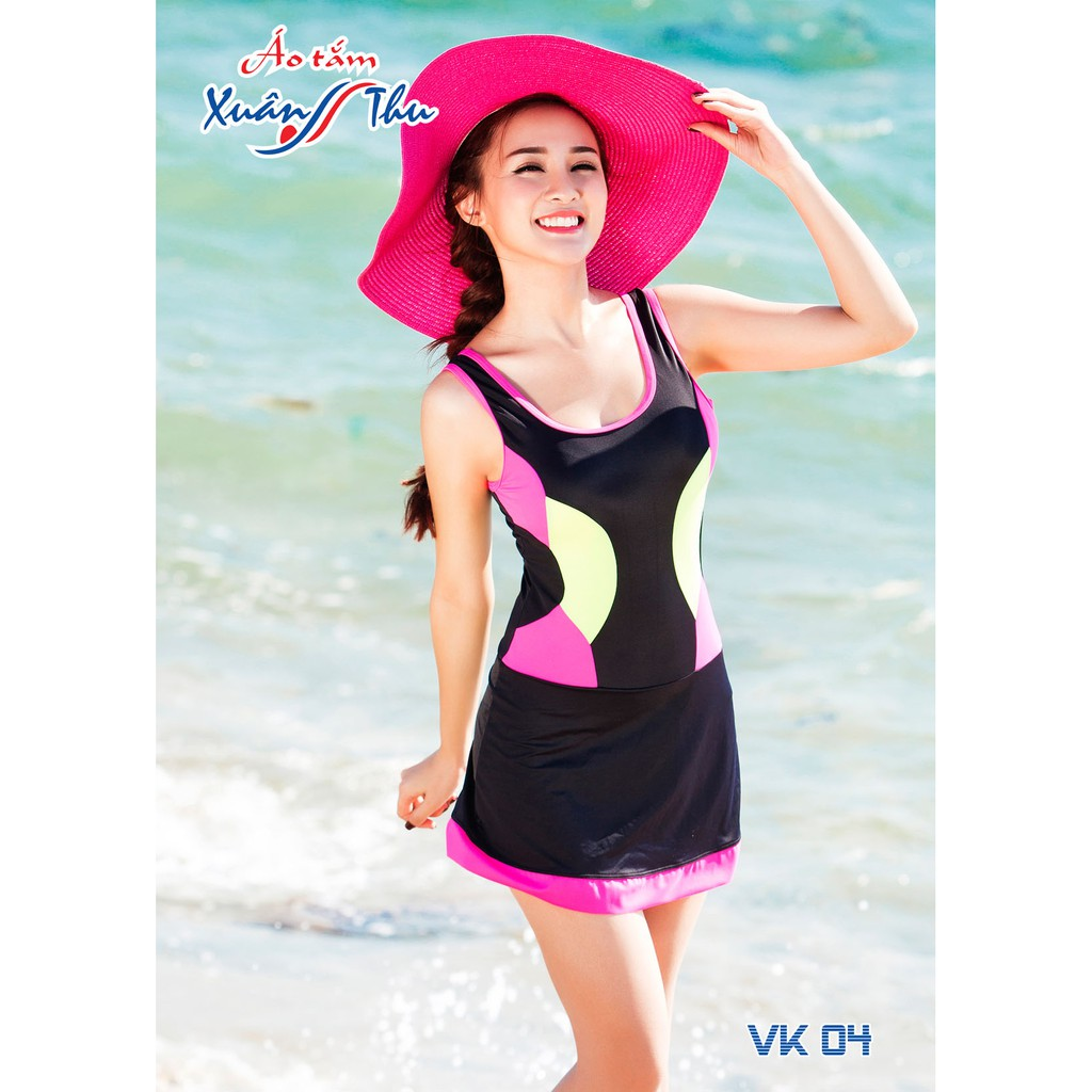 Đồ bơi nữ một mảnh kiểu váy - Áo tắm Xuân Thu