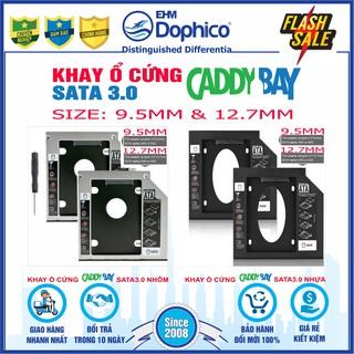 Caddy Bay HDD-SSD Sata3 - Vỏ Nhôm Nhựa - Size 9.5mm và 12.7mm Khay ổ cứng thay thế ổ DVD thumbnail