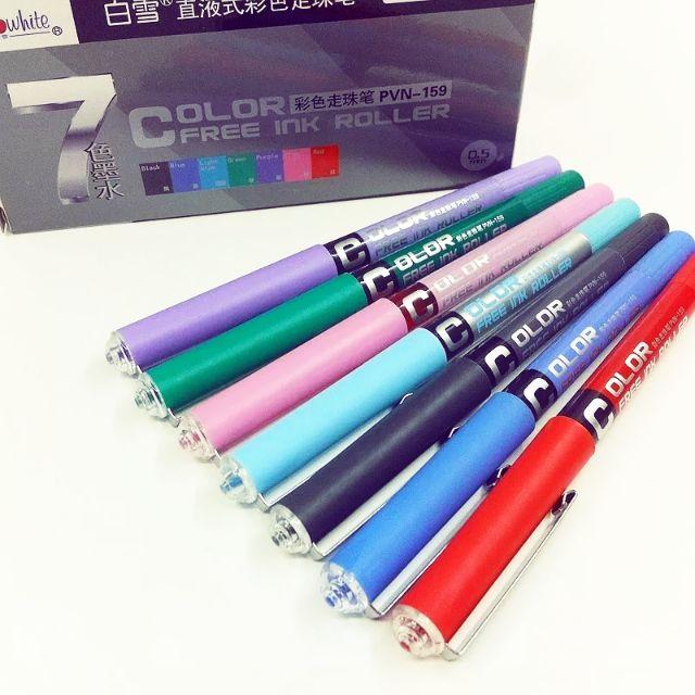 Combo Bút viết mực gel đi nét 0.5mm gồm 7 màu