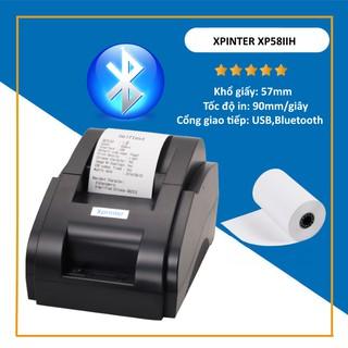 Máy in nhiệt kết nối Bluetooth Xprinter 58iih qua ứng dụng viettelpay pro, Kiot viet, Loyverse, Go Viet.