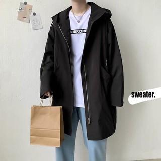 [CÓ SẴN – ẢNH THẬT] Áo khoác đen dáng dài nam nữ unisex phong cách ulzzang Hàn Quốc