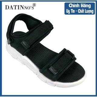 Dép Sandal Nữ Đi Học, Giày Sandal Nữ Quai Ngang DATINNOS (Đen Hồng) - DT32 thumbnail