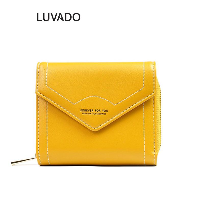 Ví nữ nhỏ ngắn bỏ túi FOREVER FOR YOU nhiều ngăn cao cấp đựng tiền cute dễ thương LUVADO VD344