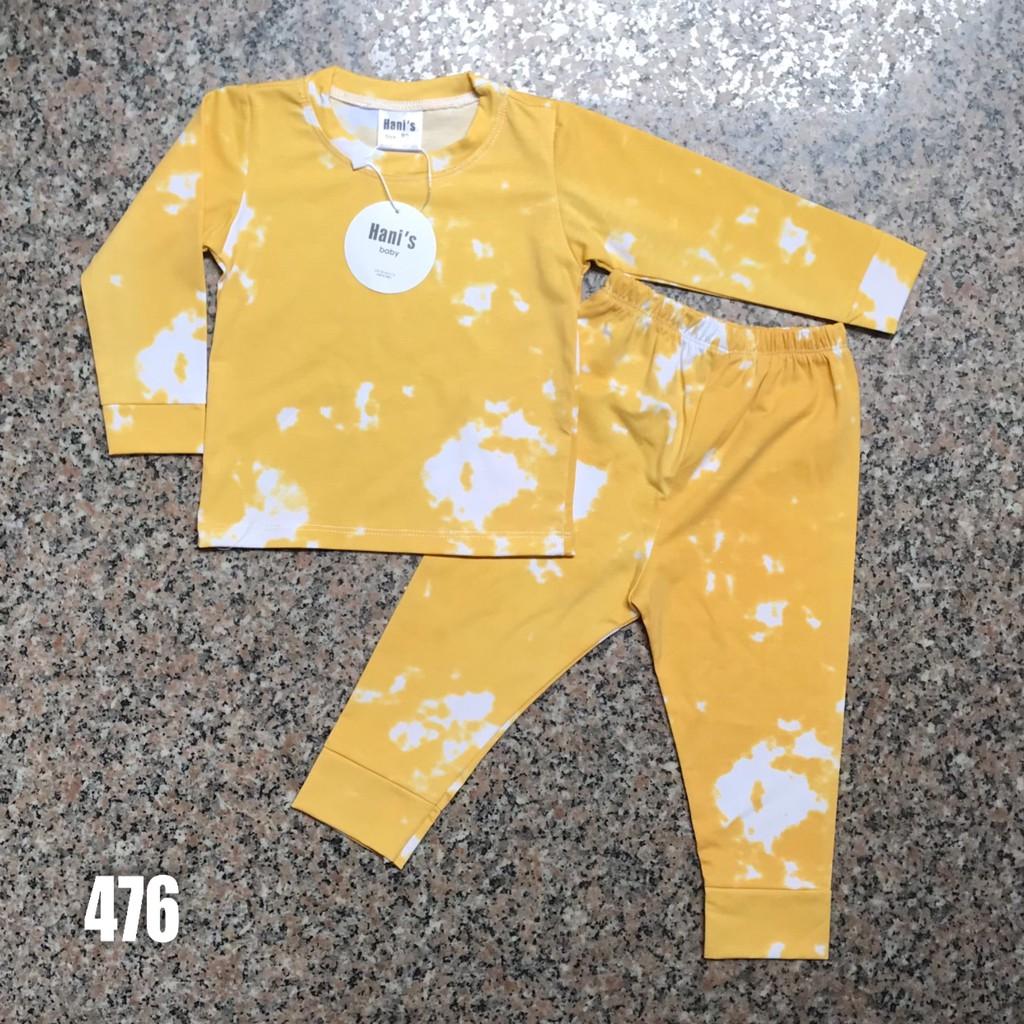 Bộ Dài Hani's Cotton 4 Chiều, In Loang Siêu Đẹp Cho Bé Trai Và Bé Gái Từ 8-32KG. Chuẩn Mặc Ngủ Máy Lạnh.
