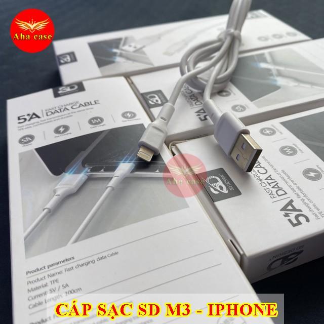 Cáp sạc Chính hãng SD M1, M2, M3 có Micro, TypeC, Lightning cho các loại Điện Thoại, Pin Dự Phòng, Tai nghe Bluetooth