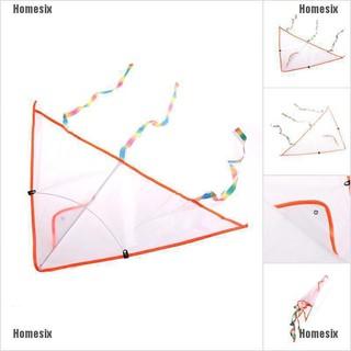 [HHMSI] 1PC DIY Painting Kite Foldable Outdoor Beach Kite Children Kids Sport Toys FWB