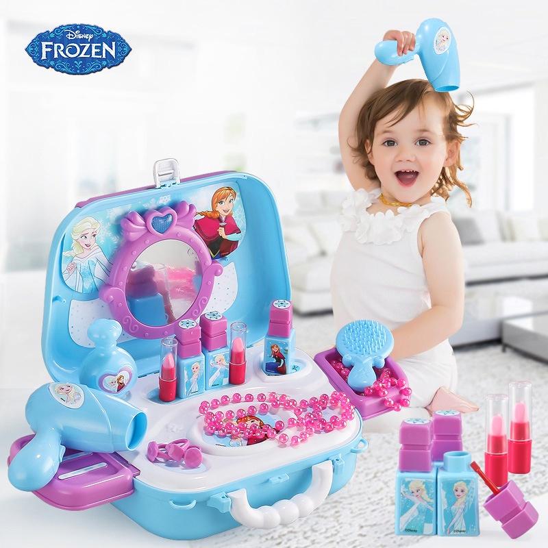 【Ready Stock】Disney Frozen Elsa Anna Bộ đồ Chơi Nấu ăn Nhà Bếp Cho Bé Gái Nhiều Chi Tiết, Nhựa Nguyên Sinh An Toàn Bộ Đồ Chơi Trang Điểm Cho Bé Gái