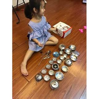 Bộ NẤU ĂN INOX 40 chi tiết cho bé