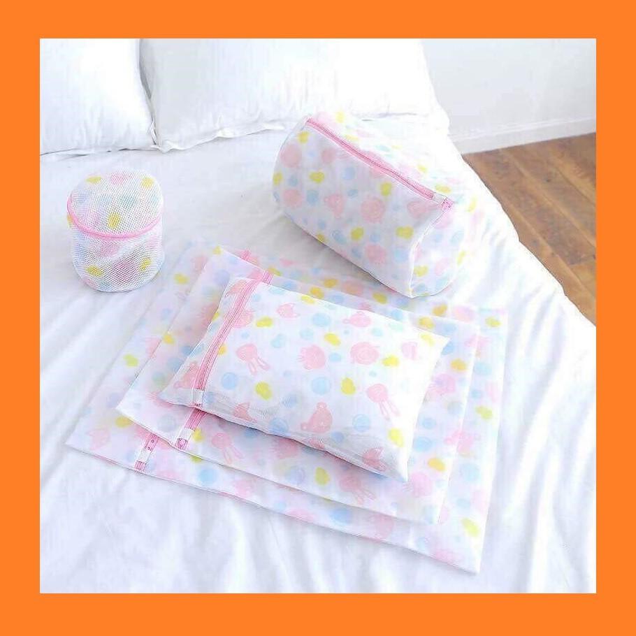 Bộ 5 túi lưới giặt quần áo - set 5 túi giặt đồ lót trong máy giặt tiện dụng