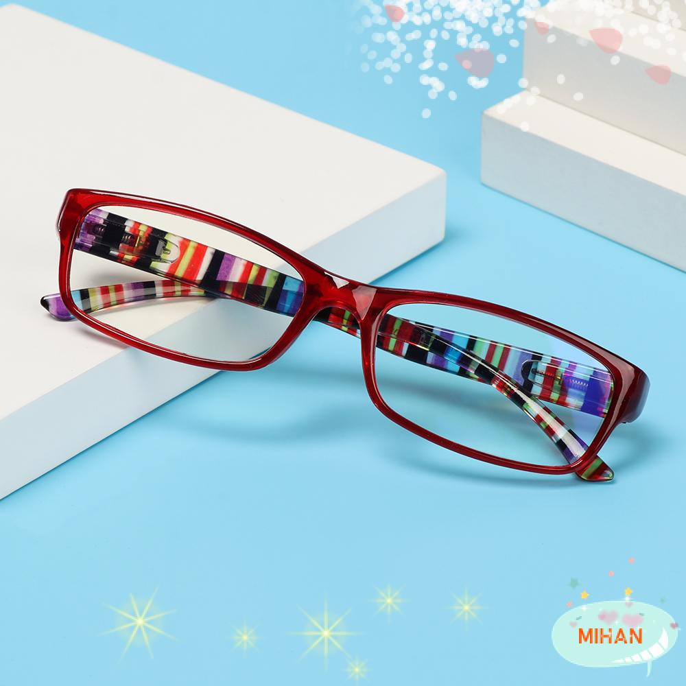 MIHAN1 Fashion Reading Glasses Comfortable Ultra Light Frame Anti-Blue Light Eyeglasses Portable Women Men Elegant Vintage Eye Protection/Multicolor