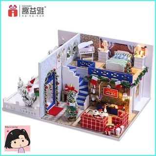 """Mô Hình Nhà Gỗ DIY """"Tuyết rơi đêm giáng sinh"""""""