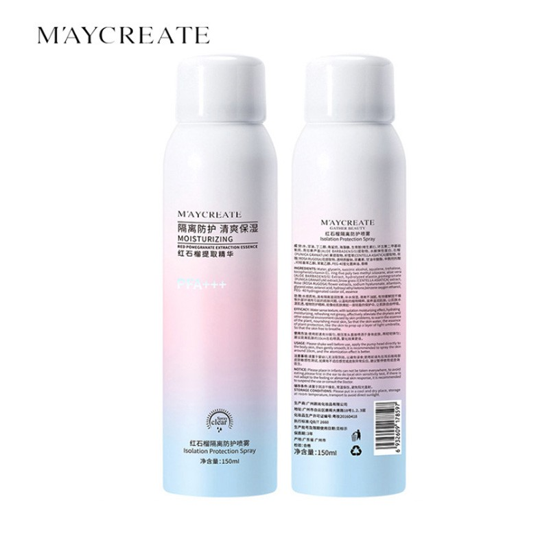 Xịt chống nắng Maycreate CN50