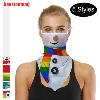 [haostontomj]Christmas Washable Dustproof Windproof Neck Cover Scarf Cycling Accessory