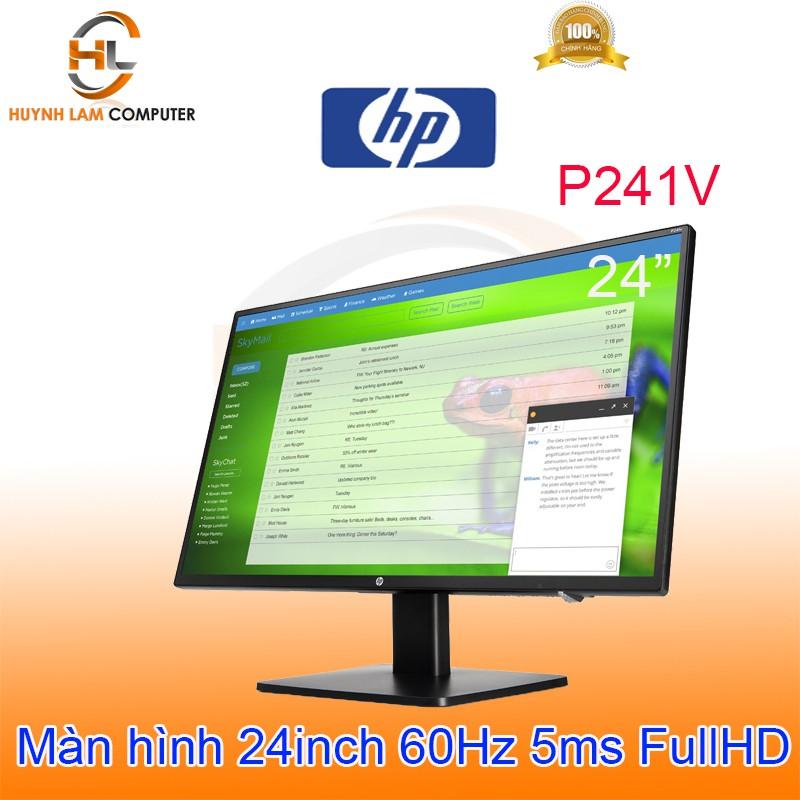 [Mã ELMIDNIGHT giảm 7% đơn 2TR] Màn hình máy tính 24inch HP P241V FullHD 60Hz 5ms VGA/HDMI/DVI - FPT phân phối