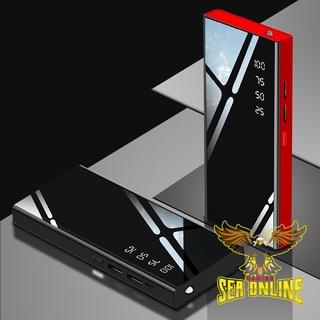 [FREESHIP TOÀN QUỐC] Sạc dự phòng Mặt Gương 30000 mAh 2 cổng USB /Sạc nhanh,màu trắng nhỏ gọn tiện lợi ⓑ