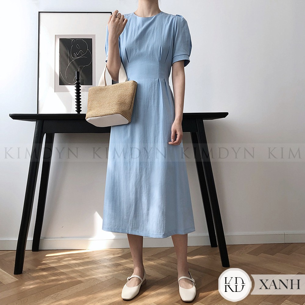 Đầm xoè vintage cổ cao thanh lịch [KDD17]