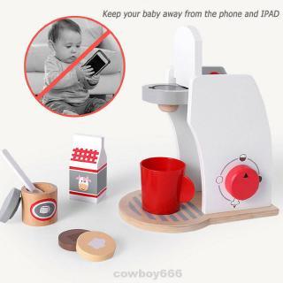 Pretend Play House Nontoxic Dinnerware Wooden Mini Simulation Educational Kitchen Toy Set