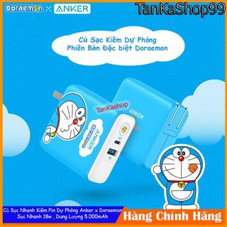 Củ Sạc Kiêm Pin Dự Phòng Anker x Doraemon 5.000mAh -A1624 Sạc Nhanh IQ3 PD 18w + QC3.0 cho iphone và Androi